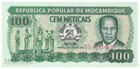 Mozambik - 100 meticali (1983)