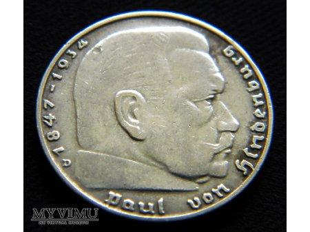 Duże zdjęcie 2 Reichsmark 1937