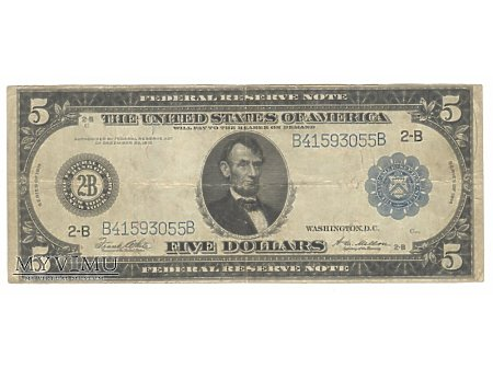5 USD 1914