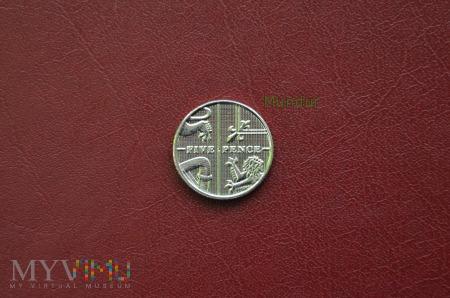 Moneta brytyjska: 5 pence