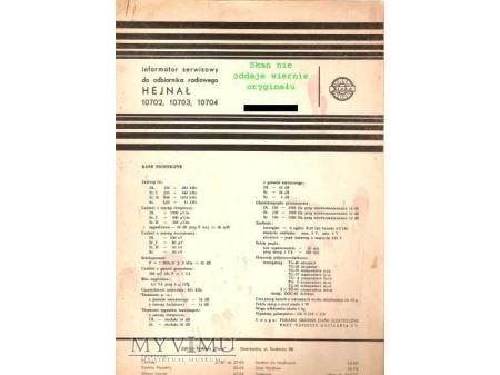Instrukcja radia HEJNAŁ