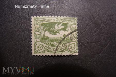 śląskie znaczki plebiscytowe za 40 fenigów
