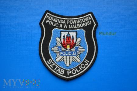 Oznaka KPP w Malborku - SZTAB POLICJI