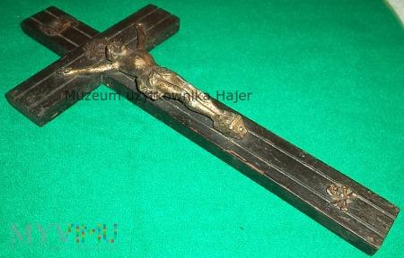 Duże zdjęcie Stary krzyż INRI z trupią czaszką - 25 cm