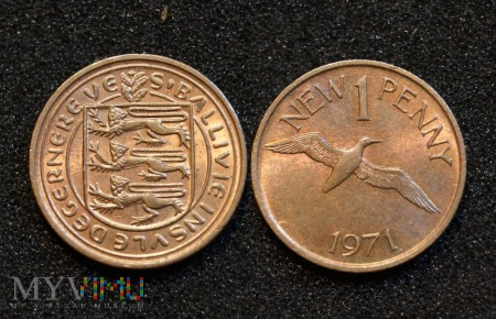 Guernsey, 1 New Penny 1971