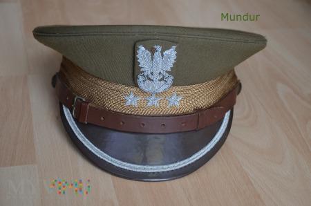Czapka garnizonowa porucznika - gabardyna