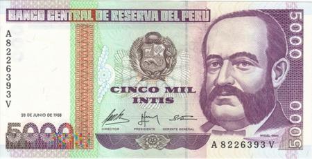 PERU 5000 INTIS 1987