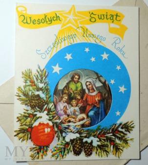 Kartka świąteczna Wesołych Świąt Bożego Narodzenia