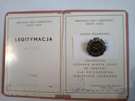 Honorowa Odznaka Miasta Łodzi