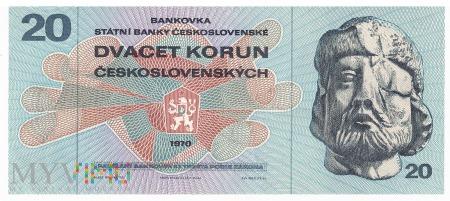 Czechosłowacja - 20 koron (1970)