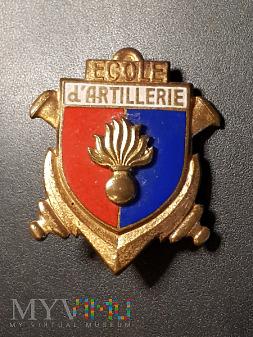 Pamiątkowa odznaka Szkoły Artylerii - Francja