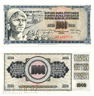 1000 Dinara 1974 (AG 0207719)