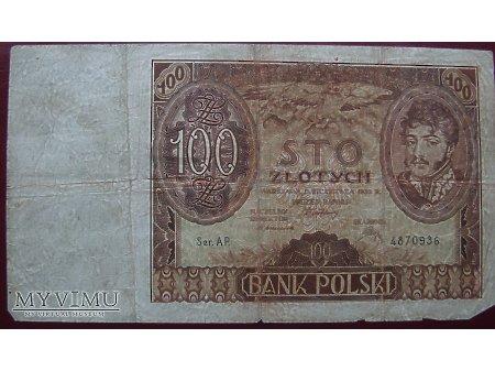 100 zł. z dębem - Polska