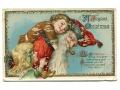 c. 1910 Święty Mikołaj z fajką litho pocztówka