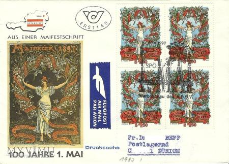 100 lat święta 1 Maja - Austria 1990