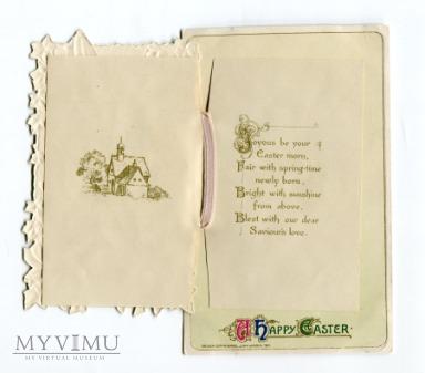 Wielkanoc Pocztówka rozkładana Novelty książeczka