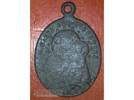 Stary medalik z MB Częstochowską
