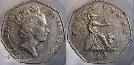 Wielka Brytania, 50 pence 1997