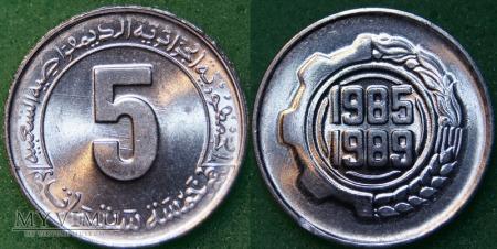 Algieria, 5 Centów 1985r