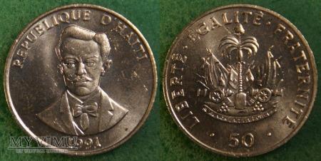 Haiti, 50 centimes 1991