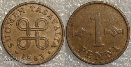 Finlandia, 1 PENNI 1963