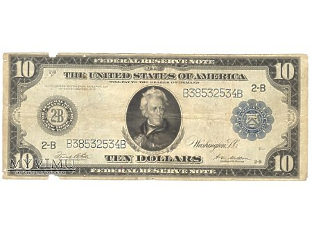 10 USD 1914 FEDERAL RESERVE NOTE