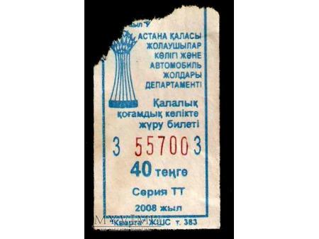 Bilet autobusowy z Kazachstanu.