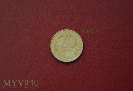 Moneta albańska: 20 leke