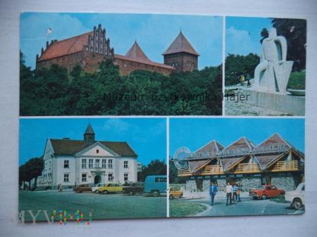 NIDZICA - gotycki zamek z XIV w. pomnik Władysława