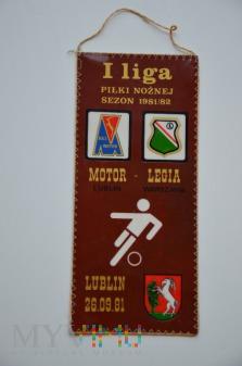Proporzec Motor Lublin-Legia Warszawa 1981