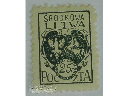 Litwa Środkowa znaczek 25 f