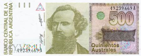 Argentyna - 500 australi (1988)