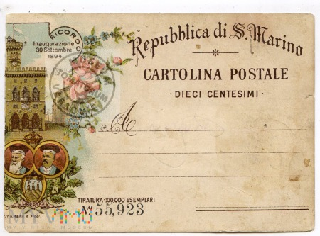 Pozdrowienia z San Marino - 1894