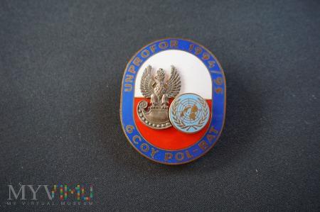 Duże zdjęcie Odznaka 6 COY POL- BAT UNPROFOR 1994/95