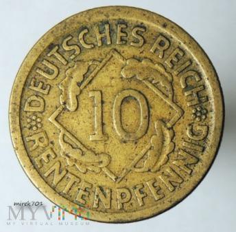 10 Rentenpfennig 1924 D