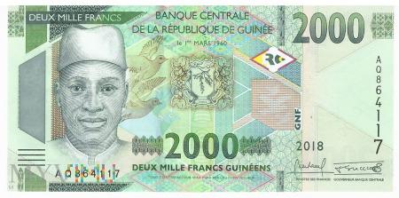 Gwinea - 2 000 franków (2018)
