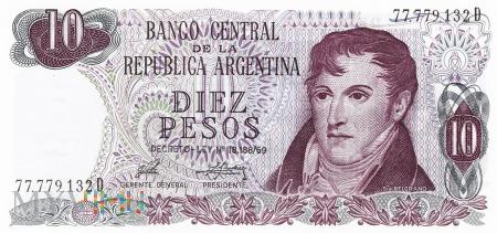 Argentyna - 10 pesos (1976)