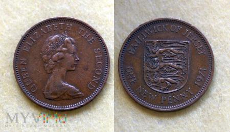 Jersey, 1 penny 1971