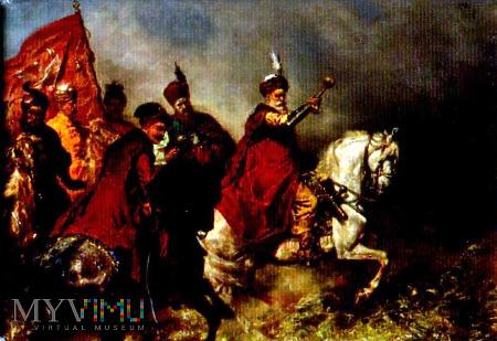Magnes z obrazem Brandta Chodkiewicz pod Chocimiem