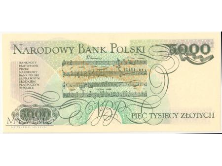 5000 złotych 1982 rok seria CK