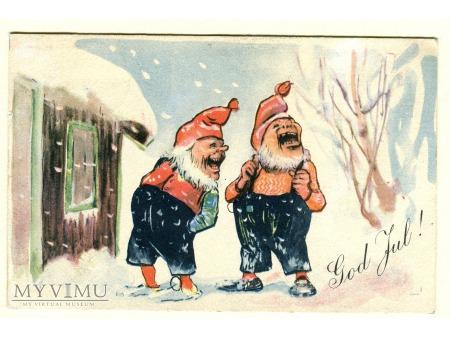 1924 Skrzaty z dalekiej północy NORWEGIA Nowy Rok