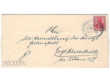 Duże zdjęcie List Bahnpost ZUG Greiffenberg-Heinersdorf