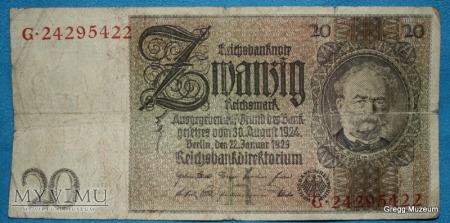 20 Reichsmark 1929