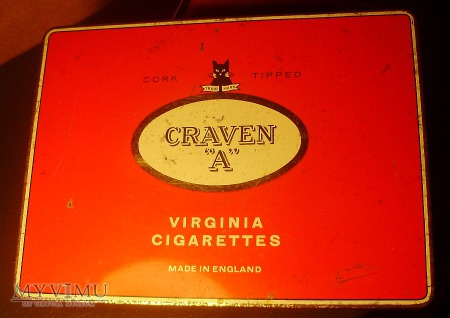 CRAVEN CORK TIPPED VIRGINIA CIGARETTES