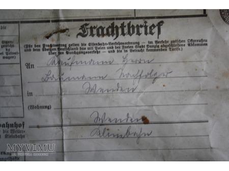 Frachtbrief - list przewozowy