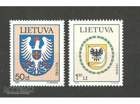 Litwa herby miast.