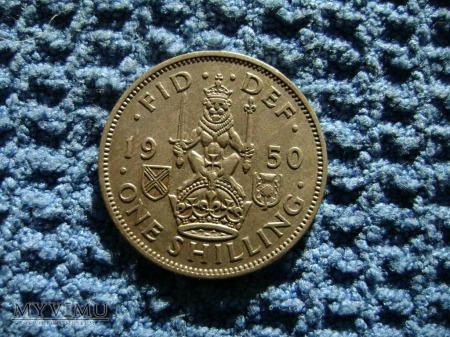 1 szyling (shilling) Wielka Brytania 1950