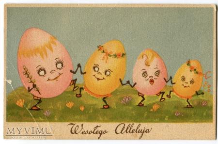 Wielkanoc Wesołego Alleluja Pisanki świąteczne