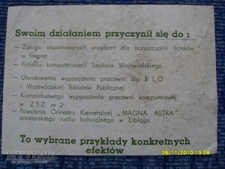 Kandydat PZPR do senatu-1989r.