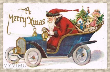 Mikołaj , automobil , prezenty